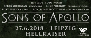 27.06.2018 - Sons of Apollo @ Hellraiser, Leipzig