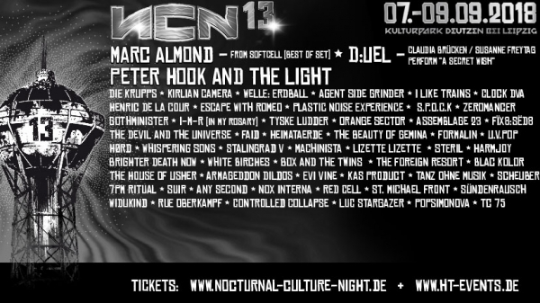 07.-09.09.2018 - Nocturnal Culture Night 13 @ Kulturpark Deutzen